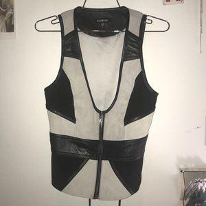 Leather Bebe vest